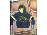 Diesel blue hooded top jumper boys age 4 clothes