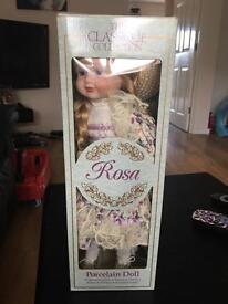 Porcelain doll, classique collection, rosa