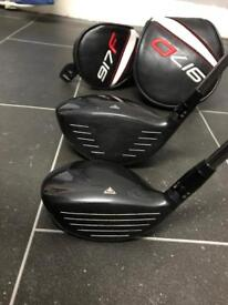 titileist 917 driver and 3 wood x flex
