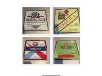 Boston Warehouse set of 4 Liquor design appetiser plates