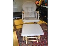 Baby gliding nursing chair and stool