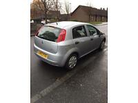 Fiat Punto Grande Active 1.2, silver car, 2007, 140 000 miles, 6 months MOT, full service history