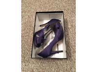 Dorothy Perkins purple heels size 6