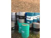Used oil drum barrels