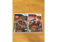 Lego pirates of the Caribbean and The logs of the rings wii games