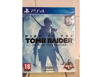 BRAND NEW AND SEALED RISE OF THE TOMB RAIDER 20 YEAR CELEBRATION ON PS4.