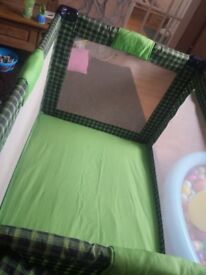 Mother care travel cot and play pen