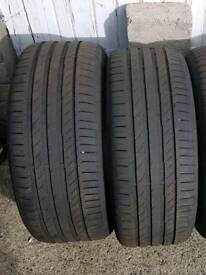 2 x Continental 235/45 R17 tyres