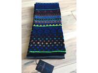 Paul Smith fair isle scarf bnwt 100% wool