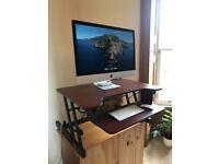 Healthy Ergonomic Standing Desk -- Sit or Stand hand-held adjustable height