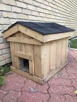 Wooden outdoor animal house