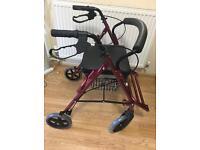 4 Wheeled Rollator/ wheelchair