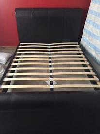 2 kingsize bed frames 1 brown and 1 chocolate brown. £150