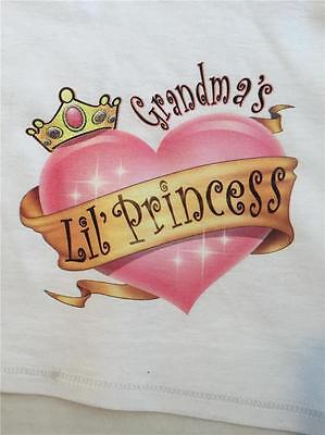 Grandma's LiL Princess Youth kids t-shirt Jerzees The Best 2-4 To 14-16