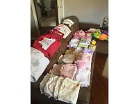 Over 100 items of baby girl clothes. 0to 3 months and 3 to 6 months £89 ono
