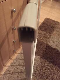 Stair gate and extendable bit