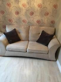 Cream metal action sofa bed