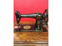 singer sewing machine and table antique