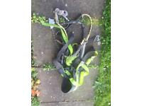 Climbing scaffolders tree surgeon Ect harness with rope clips Ect