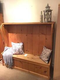 Solid Pine Settle / Bench - Handcrafted - CAN DELIVER