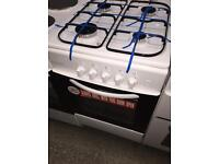 **CHRISTMAS SALE** New Graded Cookworks 60cm Gas Cooker 2 Door - White