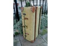 Vintage 30's/40's Steamer Travel Trunk Chest.Classic Car Prop Film wedding's etc