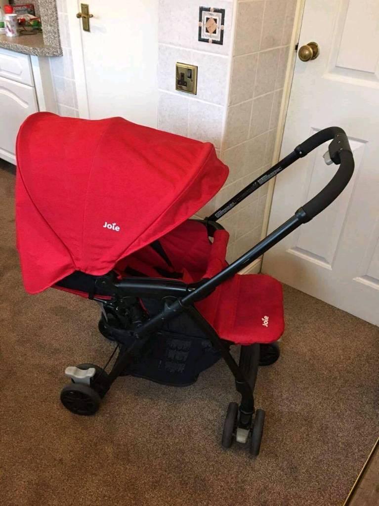 Red jole pram for sale