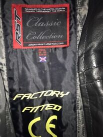 Men's leather motorbike jacket
