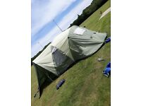 Outwell Hartford xl tent, carpet, footprint, windbreak and extension.