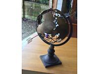 Large iron decorative globe.
