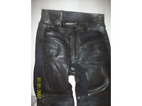 FIELDSHEER LEATHER MOTORCYCLE TROUSERS 32 WAIST