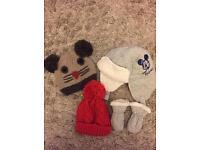 6-12 months hats x 3