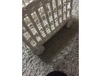 White wicker toy basket