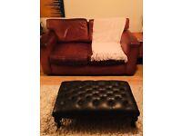 Leather sofa vintage designer good condition