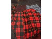 selection of ladies tartan skirts