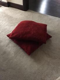 Red cushions