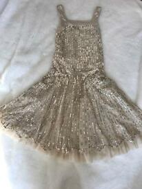 Monsoon Gold sequin party dress bargain