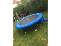 8ft trampoline with net.