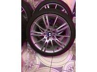 Bmw Mv3 Genuine Alloy Wheel REAR 8.5j with RUN FLAT TYRE SINGLE WHEEL CAN POST (1 wheel)