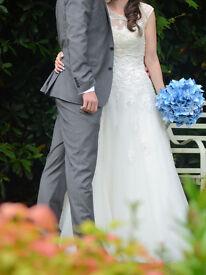 Size 10 - Sincerity 3771 Wedding Dress - Strapless or bolero