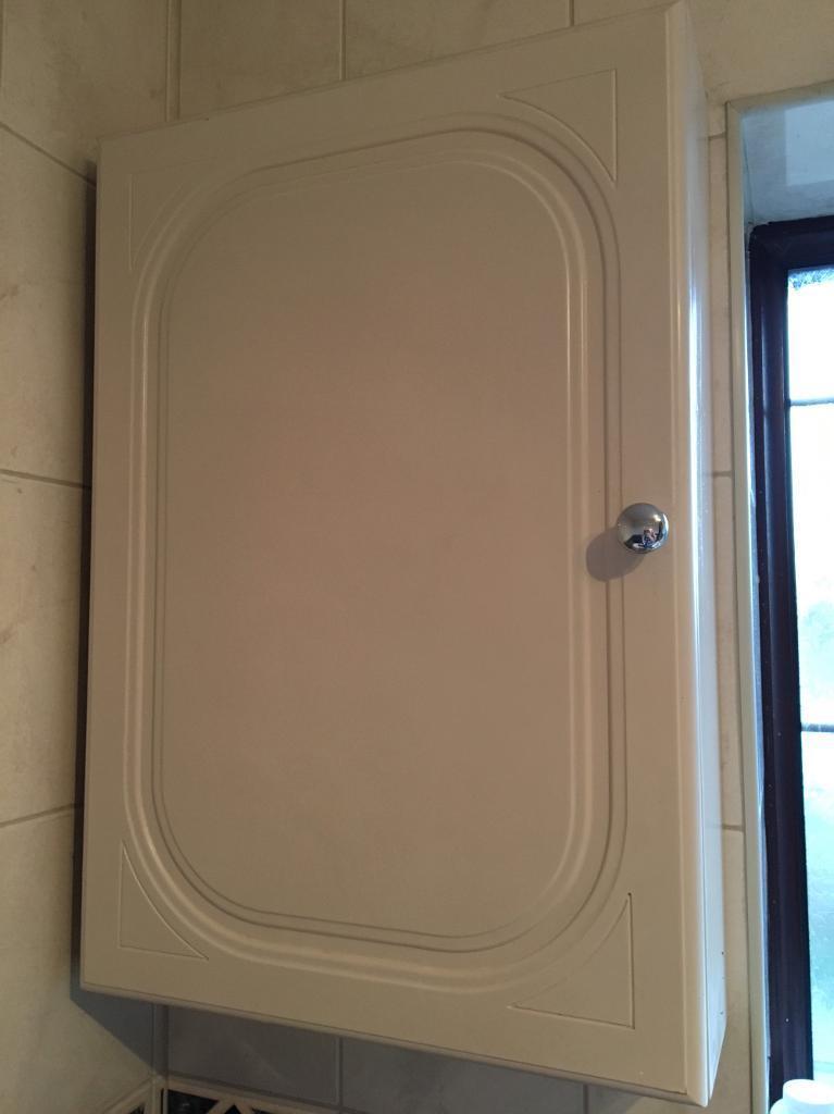 Cream bathroom cabinet