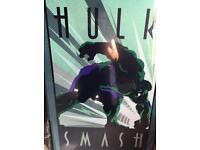 Hulk poster + black frame