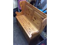 Pine 2 seater solid bench