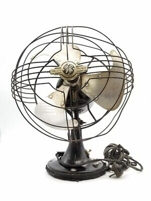 """VTG Antique 12"""" GE General Electric Fan 2 speed OSCILLATING 84 CY60 A0.8 133744"""