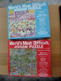 TWO WORLD'S MOST DIFFICULT JIGSAW PUZZLE BOTH COMPLETE
