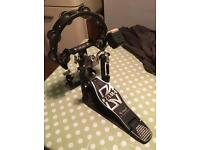 Tama kick / Bass drum pedal with mount and tambourine