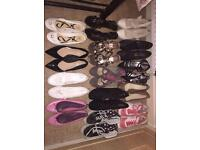 Job lot 14 pairs of ladies shoes - size 6