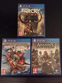 3 PS4 games £35