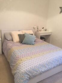 IKEA BRUSALI bed with 4 storage boxes