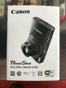 BRAND NEW Canon PowerShot ELPH 360 HS WiFi 20.2MP 12x Optical Zoom Digital Camera